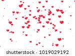 red and pink heart. valentine's ... | Shutterstock . vector #1019029192