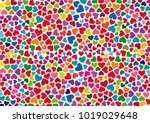 Colorful Hearts Abstract...