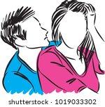 couple man and woman vector... | Shutterstock .eps vector #1019033302