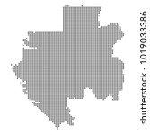 pixel mosaic map of gabon on...