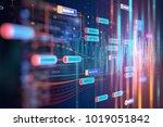 abstract  futuristic... | Shutterstock . vector #1019051842