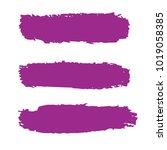 set of hand painted purple... | Shutterstock .eps vector #1019058385