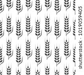 agriculture wheat background... | Shutterstock .eps vector #1019059405