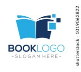 digital book data logo vector | Shutterstock .eps vector #1019062822