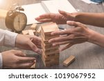 hands of executive cooperate... | Shutterstock . vector #1019067952