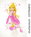 pretty princess with a love... | Shutterstock .eps vector #101906842
