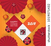 background chinese new year.... | Shutterstock .eps vector #1019071432