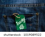 """label with the message """"luck""""... 