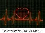 computer artwork of a heart...   Shutterstock . vector #1019113546