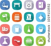 flat vector icon set   chemical ... | Shutterstock .eps vector #1019113552