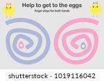 finger steps for both hand ... | Shutterstock .eps vector #1019116042