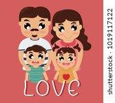 love is family | Shutterstock .eps vector #1019117122