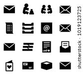 origami style icon set   mail... | Shutterstock .eps vector #1019123725