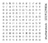 support flat icon set. single... | Shutterstock .eps vector #1019129806
