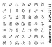 oncology icon set. collection...