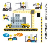 construction equipment and... | Shutterstock .eps vector #1019131642