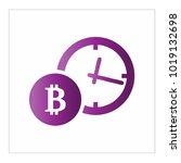 bitcoin simple vector  | Shutterstock .eps vector #1019132698
