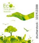 illustration environmentally... | Shutterstock . vector #101913388