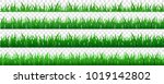 collection green grass there... | Shutterstock .eps vector #1019142802