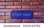 labels for employees only. ...   Shutterstock . vector #1019153782