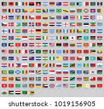 all national flags of the world ... | Shutterstock .eps vector #1019156905