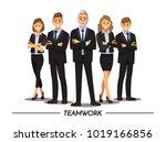 business people teamwork ... | Shutterstock .eps vector #1019166856