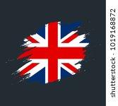 english flag paint vector   Shutterstock .eps vector #1019168872
