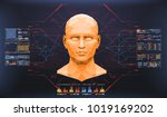 concept of face scanning.... | Shutterstock .eps vector #1019169202