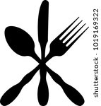 cutlery icon  fork  spoon and... | Shutterstock . vector #1019169322