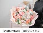 beautiful luxury bouquet of... | Shutterstock . vector #1019175412