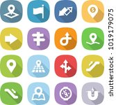 flat vector icon set   pointer... | Shutterstock .eps vector #1019179075