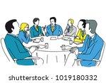 smart business leadership... | Shutterstock .eps vector #1019180332