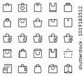 shopping bag icons | Shutterstock .eps vector #1019183512