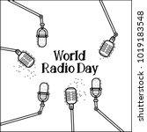 world radio day vector flat... | Shutterstock .eps vector #1019183548