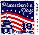 president's day vintage usa... | Shutterstock .eps vector #1019184688
