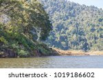 the boat in the dam  kaeng... | Shutterstock . vector #1019186602