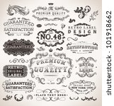 retro labels and vintage badges ... | Shutterstock .eps vector #101918662