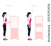 fitness exercises for strong... | Shutterstock .eps vector #1019191426