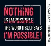 motivational quote. inspiration.... | Shutterstock .eps vector #1019199742