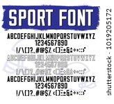 sport font. modern grotesk font | Shutterstock .eps vector #1019205172