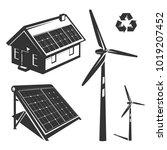 energy efficiency eco energy... | Shutterstock .eps vector #1019207452