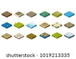 cartoon set of isometric... | Shutterstock .eps vector #1019213335