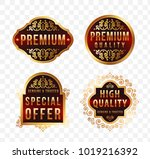 high quality luxury labels on...   Shutterstock .eps vector #1019216392