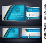 corporate business card... | Shutterstock .eps vector #1019220832
