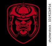 samurai logo design. badge with ...   Shutterstock .eps vector #1019226916