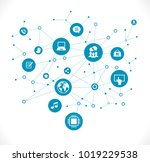 internet concept. social... | Shutterstock .eps vector #1019229538
