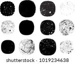 grunge post stamps collection ... | Shutterstock .eps vector #1019234638