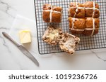 hot cross buns  six easter buns ... | Shutterstock . vector #1019236726