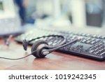 close up focus on call center... | Shutterstock . vector #1019242345