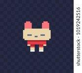 cartoon bunny character flat...   Shutterstock .eps vector #1019242516